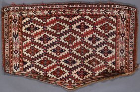 A Pair Of Turkoman Tribal Weavings, Early 20th Ce