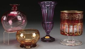 A Four Piece Group Of Crystal Including Moser, 20