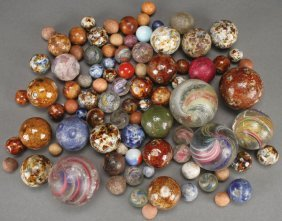 A Collection Of Hand Made Marbles