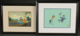 A Collection Of 11 Animation Production Cels And