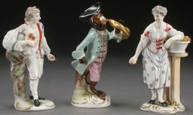 A Group Of Three Victorian Porcelain Figures.