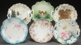 A Six Piece Group Of Mostly R.s. Prussia Porcelain