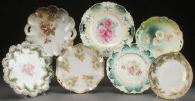 Seven R.s. Prussia And Germany Cake Plates,