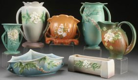 A Six Piece Group Of Roseville Art Pottery, 20th