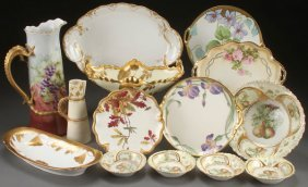 A 15 Piece Group Of Elegant Hand Painted Porcelai