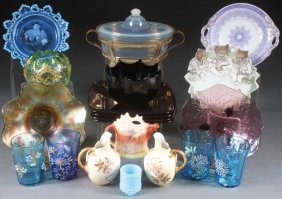 A 17 Piece Group Of Collectible Glass And Porcela