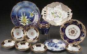 A 17 Piece Group Of Elegant Porcelain, Late 19th