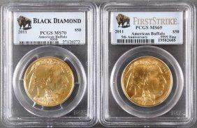 Two U.s. 2011 $50 Gold American Buffalos.