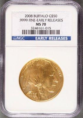 A U.s. 2008 $50 Gold American Buffalo