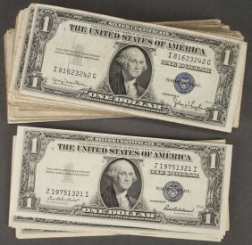 A Large Collection Of 291 U.s. $1 Notes. Compri