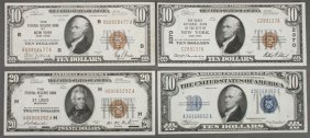A Collection Of 16 $10 U.s. Notes. Comprising A