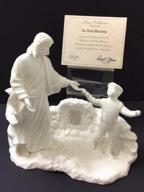 "Large Lenox ""irish Blessing"" Bone China Sculpture"