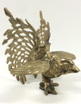 Vintage Etched/reticulated Brass Fighting Cock