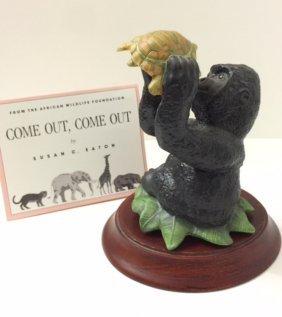 Rare Porcelain Gorilla Figure By Susan C. Eaton
