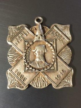 Dated 1915 Kkk Ku Klux Klan Hero Cross Pendant