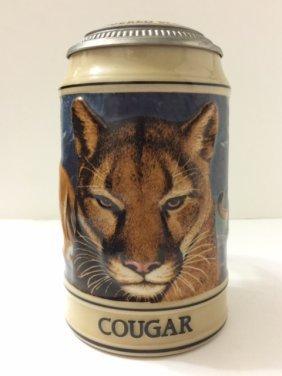 "Rare Signed Ceramarte ""cougar"" Beer Stein"