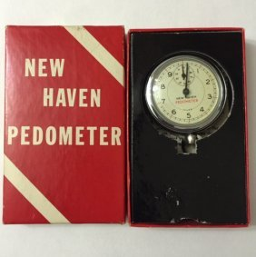 Vintage New Haven Pedometer In Original Box