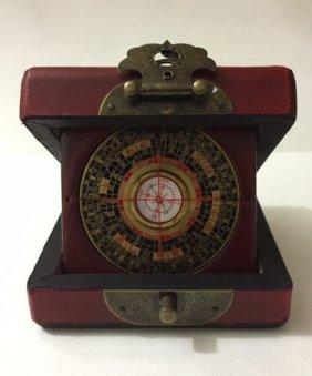 Antique Chinese Compass/original Case/great Piece
