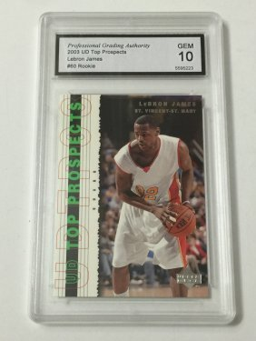 2003 Lebron James Gem Mint 10 Rookie Card