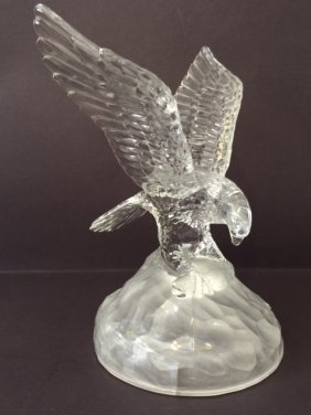 Awesome D'arques French Crystal Eagle In Flight