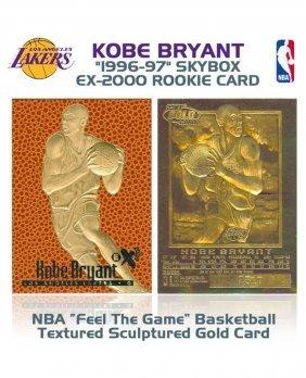 """1996-97"" Kobe Bryant Textured Gold Rookie Card"