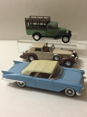 Lot Of 3 Vintage Solido Made In France Cars