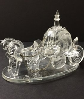 Stunning Shannon Crystal Cinderella Horse & Buggy