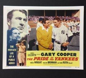 Babe Ruth & Gary Cooper Movie Theatre Lobby Card