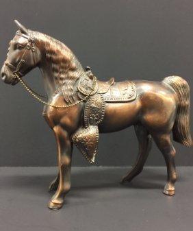 Large 1930's Heavy/ornate Copper Horse Statue
