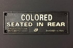 1929 Black Americana Cast Iron Segregation Plaque