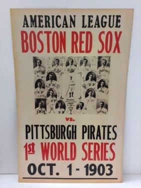 """Inaugural Baseball World Series Poster 22"""" X 14"""""""