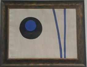 Alexander Liberman Oil On Cardboard Laid On Canvas