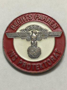 "Nazi Germany ""nskk"" Enameled Membership Pin"