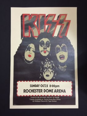 """Kiss In Concert Music Poster 12"""" X 18"""""""