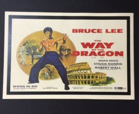 Bruce Lee The Way Of The Dragon Movie Lobby Poster