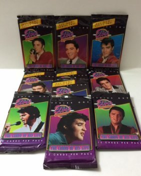 Lot Of 10 Packs Of Vintage Elvis Trading Cards