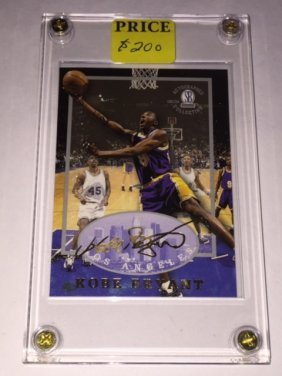 Kobe Bryant Autographed Collection Rookie Card