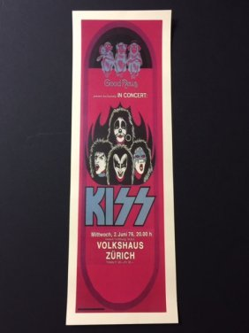 Kiss Coming To Germany Music Concert Poster