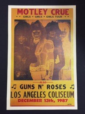 Motley Crue & Guns N' Roses Music Concert Poster