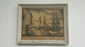 """""""northern View At New Bedford Beach"""" Arnold Print"""
