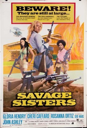 Savage Sisters 1974 Exploitation Grindhouse Poster