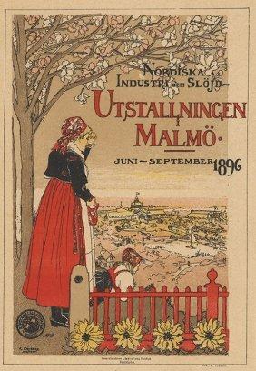Utstallningen Malmo Norwegian Pastoral Lithograph