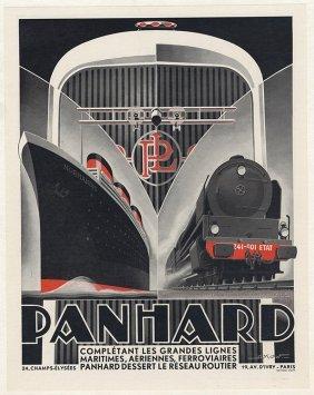 Panhard Lines Military Vehicles Art Deco 1932