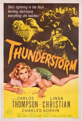 Thunderstorm (1956) 27x41 Poster On Linen Sexy Country