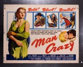 Man Crazy (1953) 22x28 Bad Girl Movie Poster