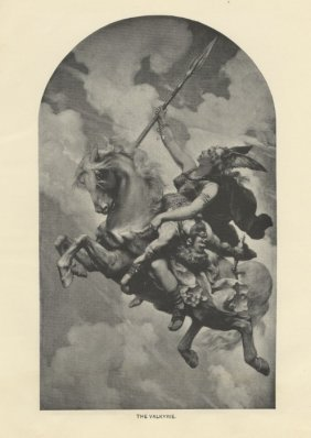 The Valkyrie Antique Engraving