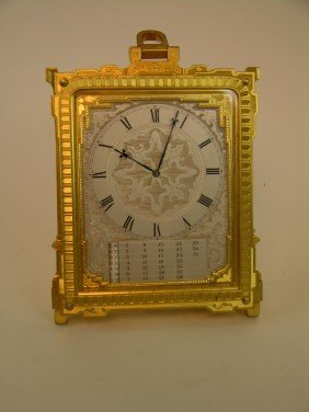 THOMAS COLE CLOCK (ENGLISH: 1800-1864) CLOCK WITH CA