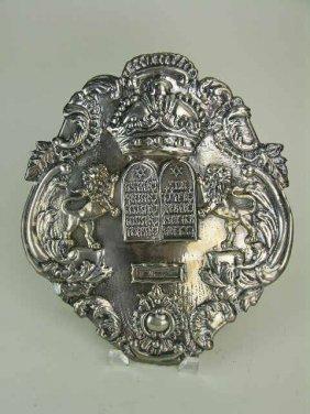 Sterling Silver Torah Shield, American
