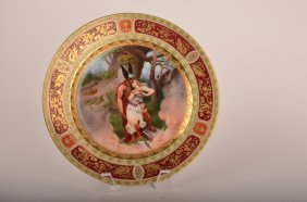 Antique Royal Vienna Portrait Plate