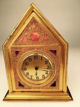 Louis C. Tiffany Furnaces, Inc. Desk Clock In The